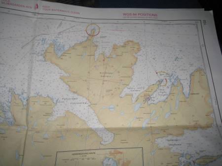 sjökortet med Nordkapsklippan