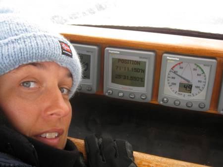 Cissela kollar positionen för Nordkap