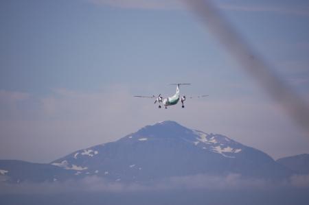 Vi väjer för flyg på ner till Tromsö flygplats